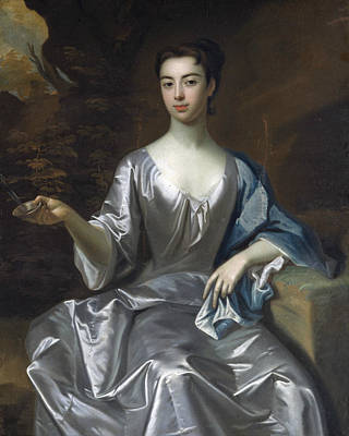 Painting - Portrait Of A Woman, Called Maria Taylor Byrd by Godfrey Kneller
