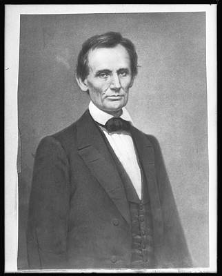 Photo Shoot Photograph - Portrait Of Abraham Lincoln by The New York Historical Society
