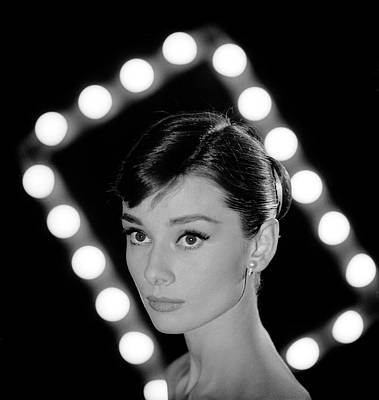 Portrait Of Actress Audrey Hepburn Art Print by Allan Grant