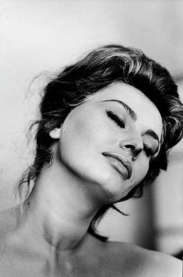 Photograph - Portrait Of Actress Sophia Loren With by Alfred Eisenstaedt