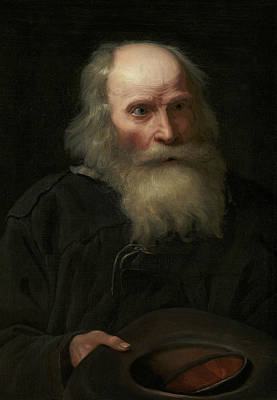 Painting - Portrait Of An Old Man Begging by Michiel Sweerts
