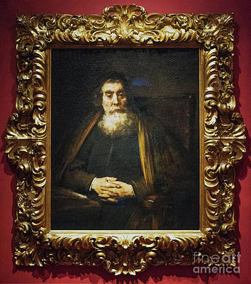 Photograph - Portrait Of An Old Man The Old Rabbi Rembrandt Uffizi Gallery Florence Italy  by Wayne Moran
