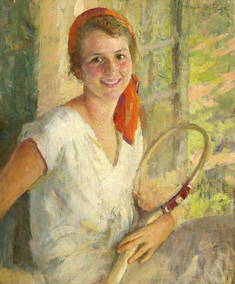 Painting - Portrait Of Anne Hawks, 1929 by Marie Danforth Page