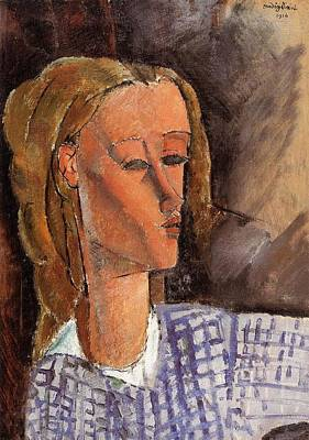 Animal Watercolors Juan Bosco - Portrait of Beatrice Hastings - 1915 - PC - Painting - oil on canvas 2 by Modigliani Amedeo