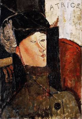 Advertising Archives - Portrait of Beatrice Hastings - 1916 - The Barnes Foundation - Painting - oil on canvas by Modigliani Amedeo
