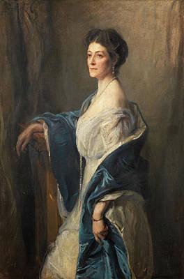Caroline Wall Art - Painting - Portrait Of Caroline Lambart, Countess Of Cavan by Philip de Laszlo