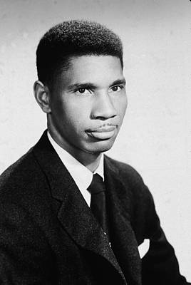 Photograph - Portrait Of Civil Rights Activist by Hulton Archive