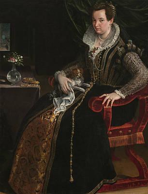 Painting - Portrait Of Costanza Alidosi by Lavinia Fontana