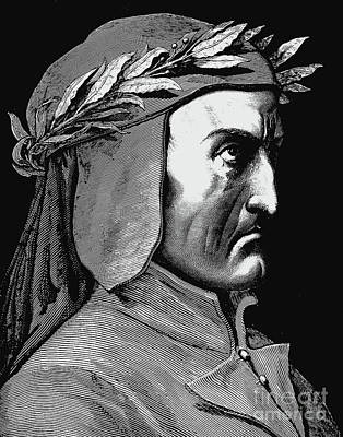 Drawing - Portrait Of Dante Alighieri by Gustave Dore