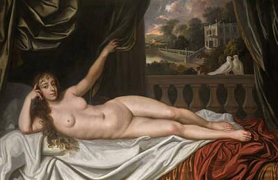 Cullen Wall Art - Painting - Portrait Of Elizabeth Trentham, Viscountess Cullen, As Venus by Sir Peter Lely