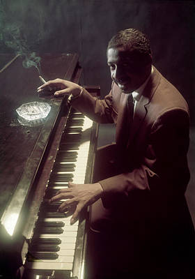 Photograph - Portrait Of Errol Garner by Eliot Elisofon
