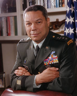 General Photograph - Portrait Of General Colin Powell by Bachrach