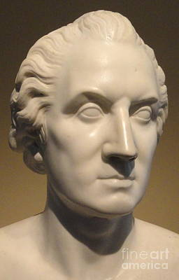Sculpture - Portrait Of George Washington,  Marble Bust by Horatio Greenough