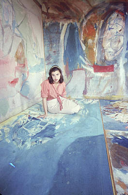 Indoors Photograph - Portrait Of Helen Frankenthaler by Gordon Parks