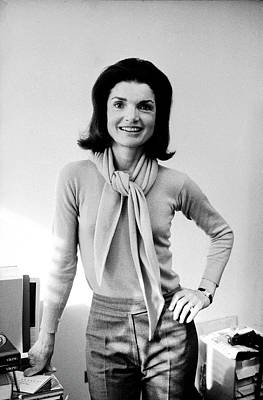 Photograph - Portrait Of Jackie Onassis by Alfred Eisenstaedt