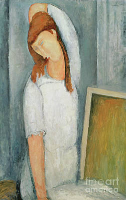 Painting - Portrait Of Jeanne Hebuterne With Her Left Arm Behind Her Head by Amedeo Modigliani
