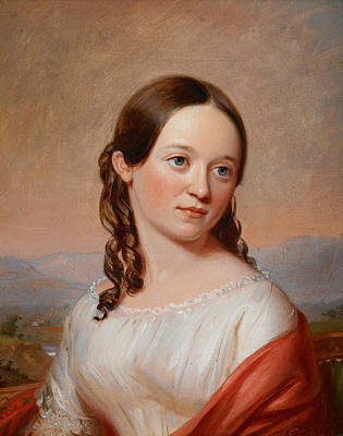 Painting - Portrait Of Julia Ann Seabury by William Sidney Mount