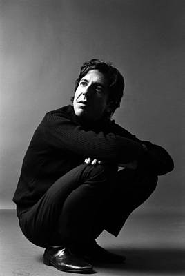 Singer Photograph - Portrait Of Leonard Cohen by Jack Robinson