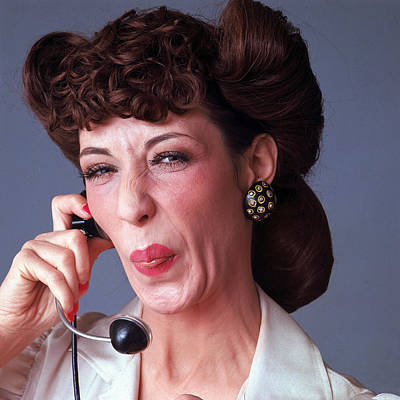 Photograph - Portrait Of Lily Tomlin by Jack Robinson