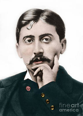 Photograph - Portrait Of Marcel Proust by French School