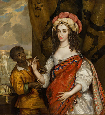 Painting - Portrait Of Mary I Stuart With A Servant  by Adriaen Hanneman
