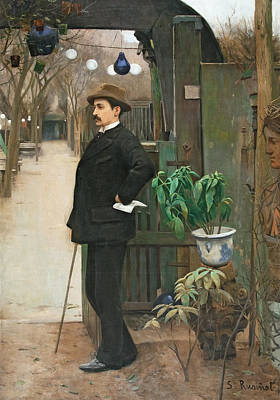 Painting - Portrait Of Miquel Utrillo by Santiago Rusinol