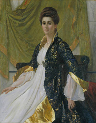 Painting - Portrait Of Mrs Ernest Moon by William Blake Richmond