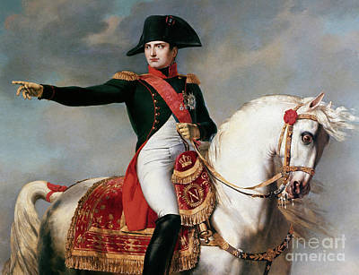 Painting - Portrait Of Napoleon Bonaparte Or Napoleon I During A Battle by Joseph Chabord