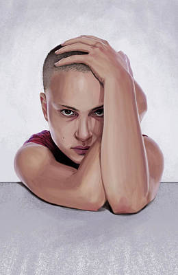 Digital Art - Portrait Of Natalie Portman by Sami Matilainen