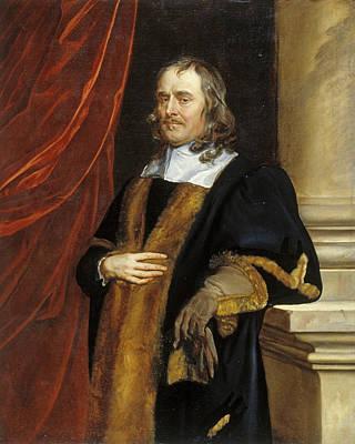 Painting - Portrait Of P Leneve, Alderman Of Norwich by Peter Lely