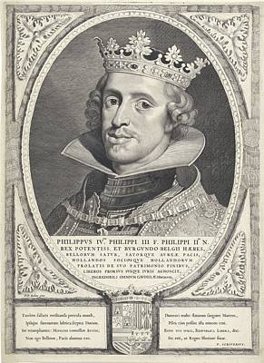 Painting - Portrait Of Philip Iv  King Of, Cornelis Vis Spainscher II After Peter Paul Rubens  by Celestial Images