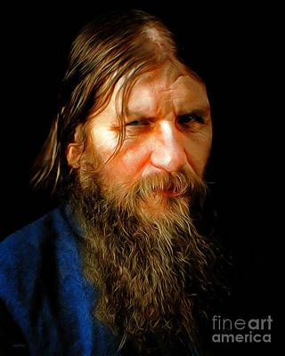 Photograph - Portrait Of Rasputin Russian Mystic Faith Healer 20180922 by Wingsdomain Art and Photography