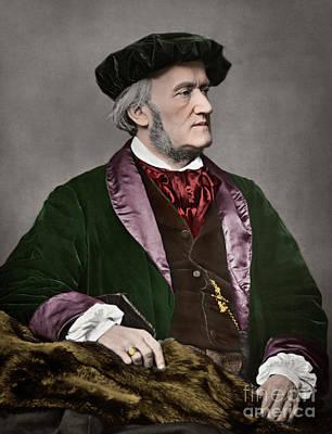 Photograph - Portrait Of Richard Wagner, German Composer by Franz Hanfstaengl