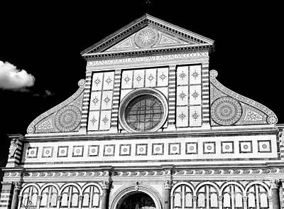 Photograph - Portrait Of Santa Maria Novella Florence by John Rizzuto