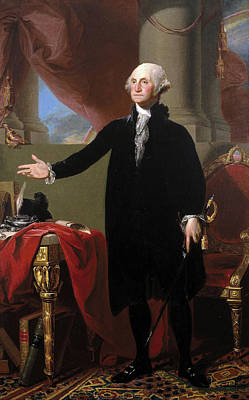 Painting - Portrait Of Standing George Washington  by Gilbert Stuart