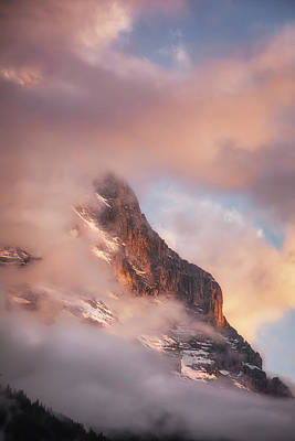 Royalty-Free and Rights-Managed Images - Portrait Of The Alps At sunset by Chris Fletcher
