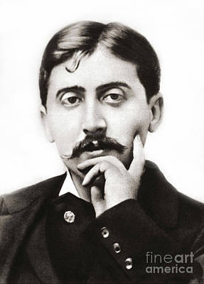 Photograph - Portrait Of The French Author Marcel Proust by French School