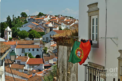 Photograph - Portuguese Flag In Castelo De Vide by Angelo DeVal