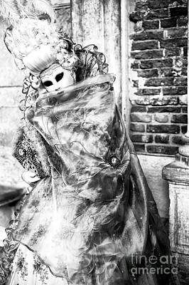 Photograph - Posing At Carnival In Venice by John Rizzuto