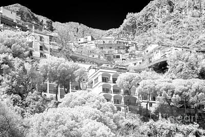 Photograph - Positano Balcony View Infrared by John Rizzuto