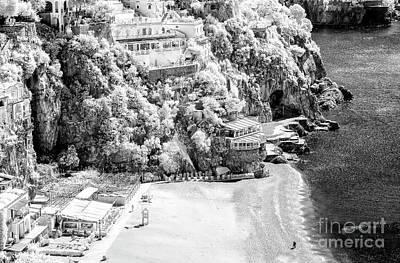 Photograph - Positano Beach Infrared by John Rizzuto