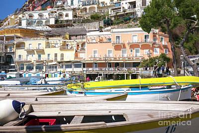 Photograph - Positano Boats On The Beach by John Rizzuto