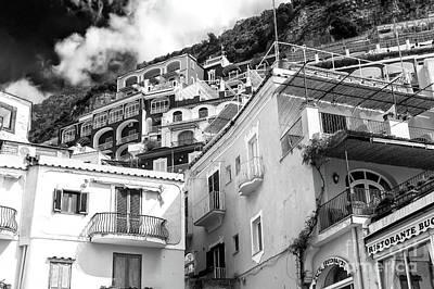 Photograph - Positano Building Dimensions by John Rizzuto