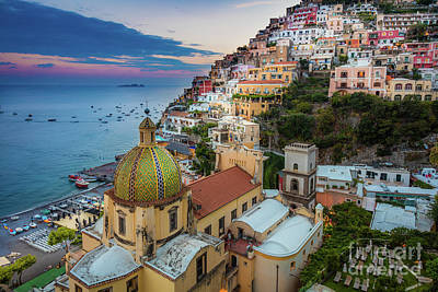 Photograph - Positano Evening by Inge Johnsson