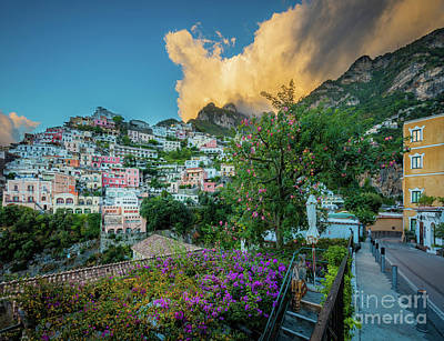 Photograph - Positano Hills by Inge Johnsson