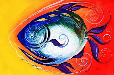 Painting - Positive Fish by J Vincent Scarpace