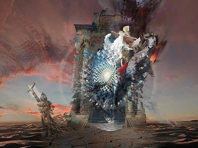 Digital Art - Post-tribulation Rapture Or Seventh Horseman Of Apocalypse by George Grie