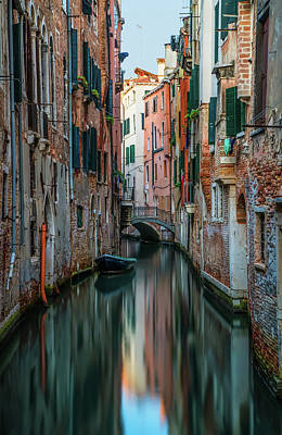 Photograph - Postcard From Venice - Canals by Jaroslaw Blaminsky