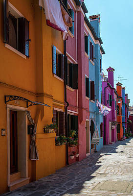 Photograph - Postcards From Burano II by Jaroslaw Blaminsky