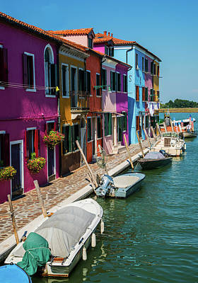 Photograph - Postcards From Colorful Burano by Jaroslaw Blaminsky